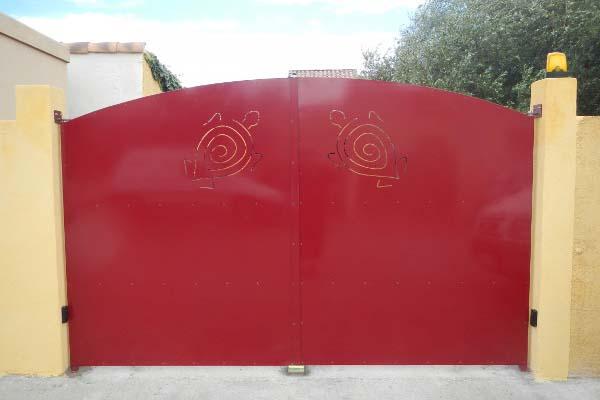 Portail 2 vantaux decors tortue villeveyrac ferstyle vous pr sente ses cr ations - Portail 2 vantaux ...